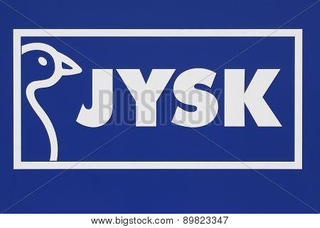 Jysk store sign