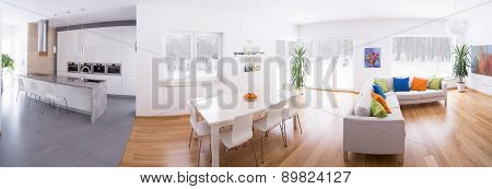 Kitchen Connected With Lounge