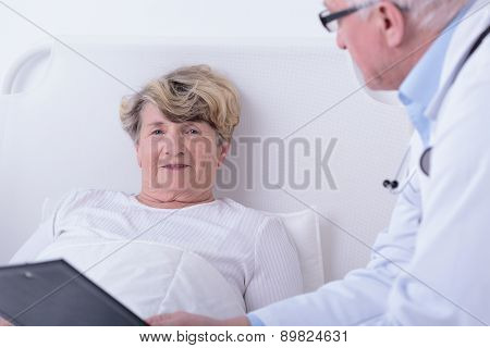 Medical Consultation In Hospital Room