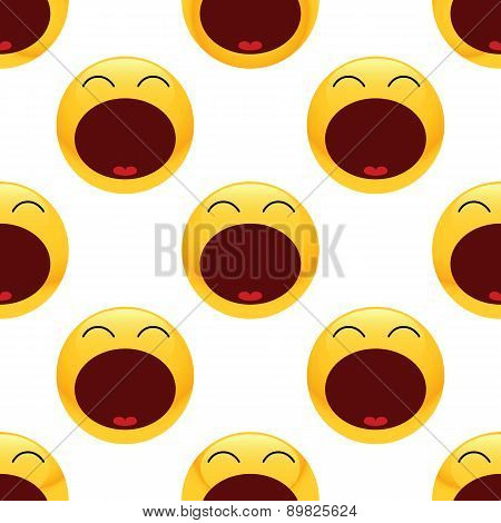 Tired emoticon pattern