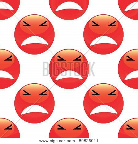 Angry emoticon pattern