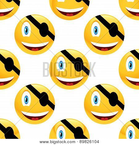 Pirate emoticon pattern