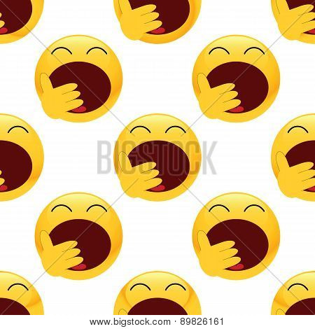 Yawning emoticon pattern
