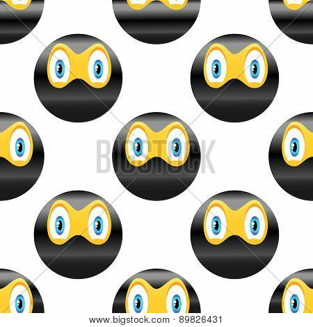 Ninja emoticon pattern