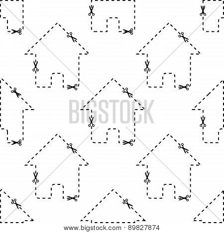 House dashed contour pattern