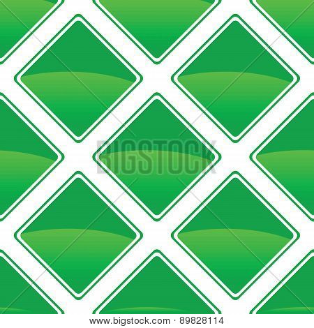 Green turned square pattern
