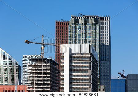 Skyscrapers With Construction Of A New Office Building
