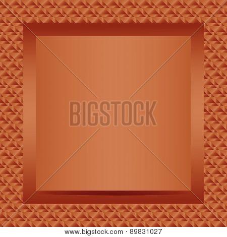 Square bronze text or photo frame design
