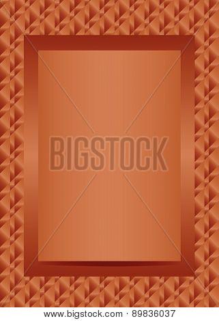 Bronze text or photo frame portrait design