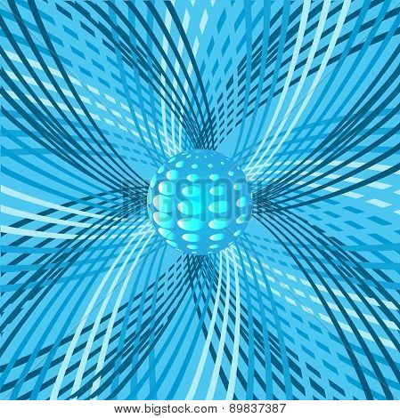 Abstract Background With Sphere And Rotating Beams