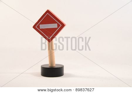 toy road sign