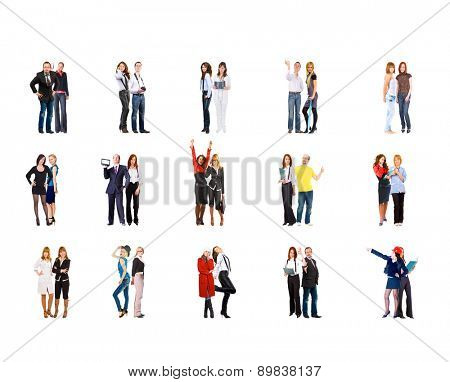 Isolated Groups Standing Together