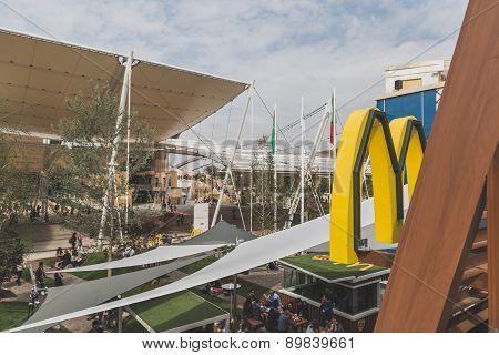 Mcdonald's Logo At Expo 2015 In Milan, Italy
