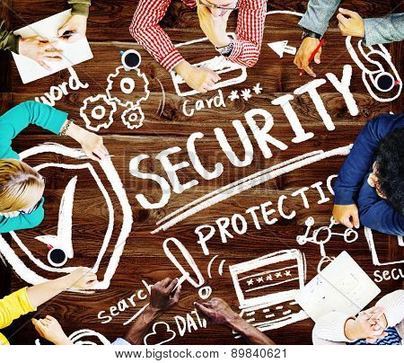 Security Shield Protection Privacy Network Concept