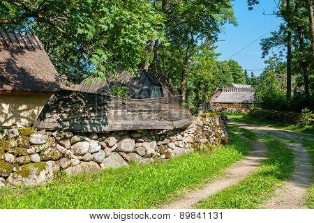 Old Village. Saaremaa Island, Estonia