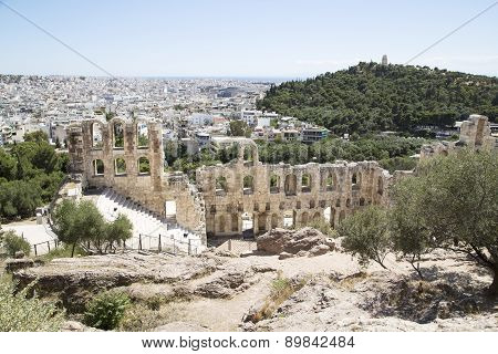 Ancient Amphitheater At Acropolis Hill