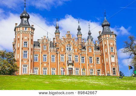 impressive castle Viron, Belgium