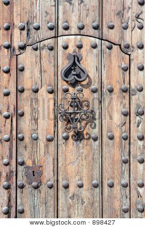 Ancient And Antique Heavy Wooden Door