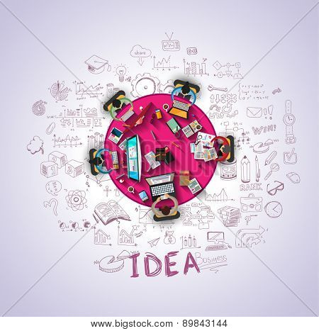 Flat Style Design Concepts for business strategy and career. Ideal for corporate brochures, flyers, digital marketing, product or idea presentations, web banners and so on .