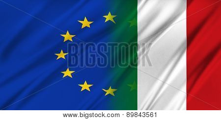 European Union And Italy.