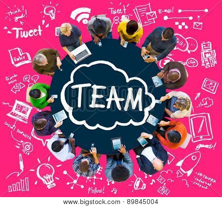 Team Teamwork Support Collaboration Togetherness Help Concept