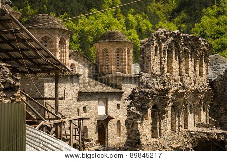 Ruins Of An Old Monastery On Mount Olympus