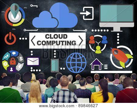 People Seminar Global Communications Cloud Computing Concept