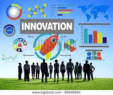 Crowd Business People Creativity Growth Success Innovation Concept