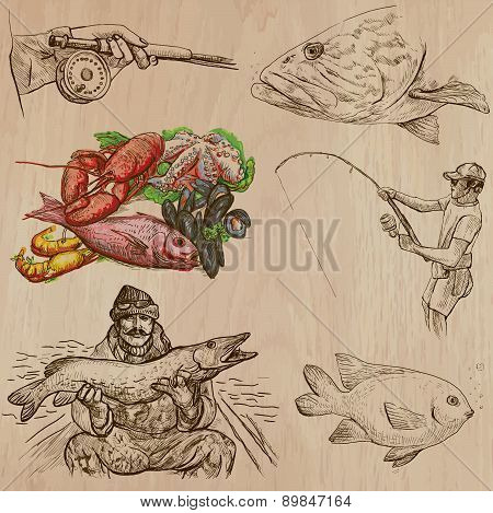 Fishing - An Hand Drawn Vector Pack