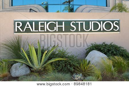 Raleigh Studios Entrance And Sign
