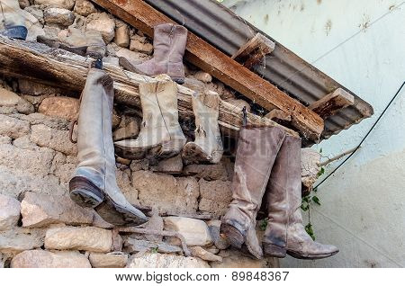 Old Dusty Cowboy Boots From Arizona