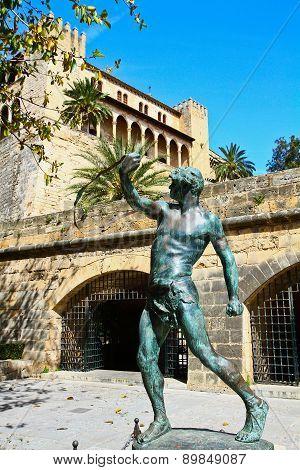 La Almudaina Palace In Palma De Mallorca, Spain