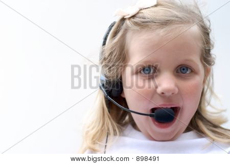 Young Girl With Headset