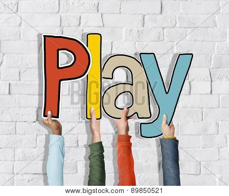 Play Word Concepts Fun Games on Background Concept