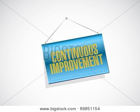 Continuous Improvement Banner Sign Concept