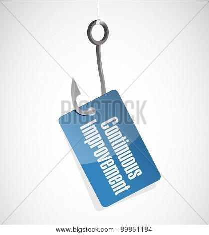 Continuous Improvement Hook Tag Sign