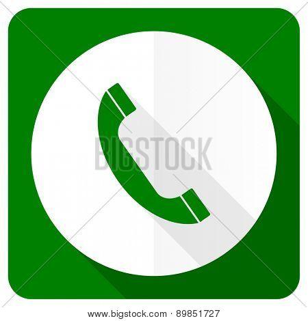 phone flat icon telephone sign