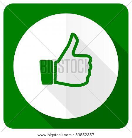 like flat icon thumb up sign