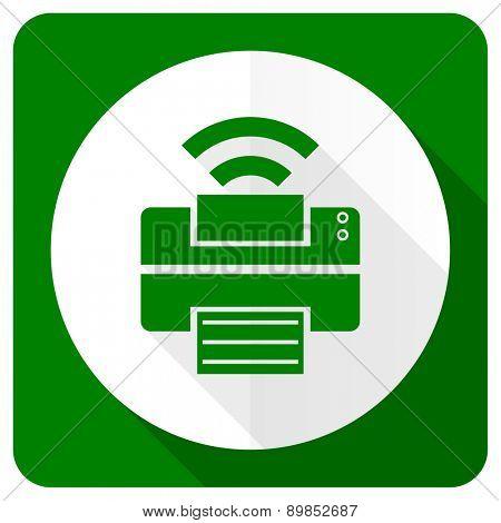 printer flat icon wireless print sign