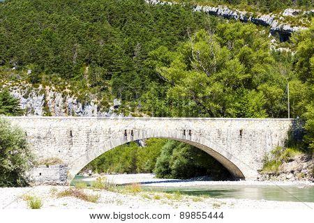 Carejuan Bridge, valley of river Verdon, Provence, France