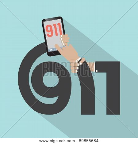Call 911 Typography Design.