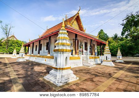 Wat Pattanaram (Mai Temple) an ancient temple at Surat Thani province South of Thailand.