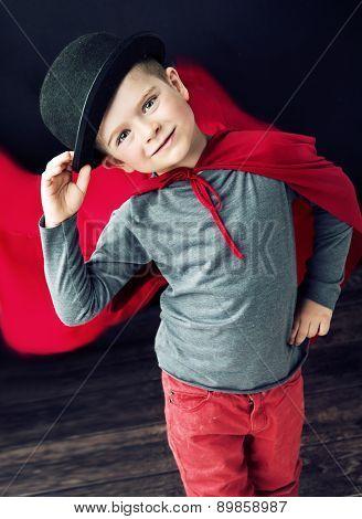 Little magician child