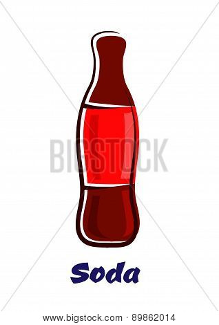 Cartoon bottle of soda drink