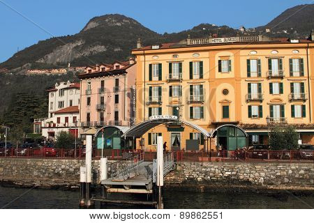 Resort town at Lake Como