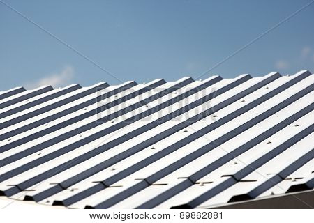 White Metal Hangar Roof