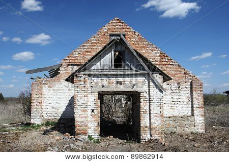 The Ruins Of A Brick Building