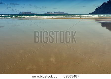 Famara Beach, Lanzarote, Canary Islands, Spain