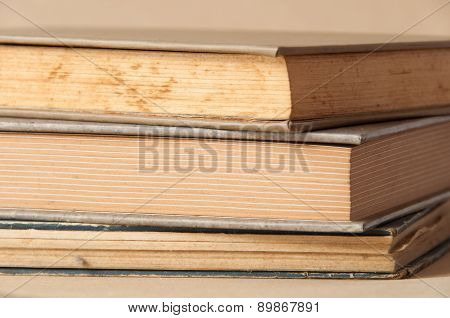 Close Up Of Vintage Book. Selective Focus