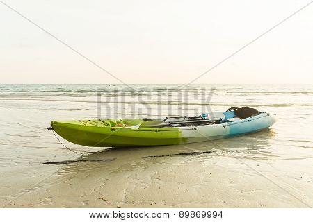 Boat On Klong Jao Beach In Koh Kood(kood Island) ,trat Thailand